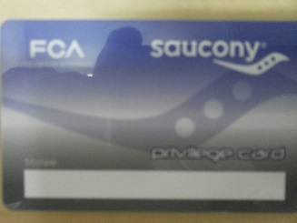 Saucony privilege card FCA